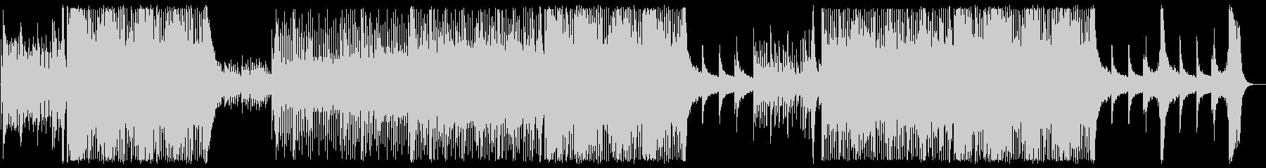 明るいアップテンポなサウンドの未再生の波形