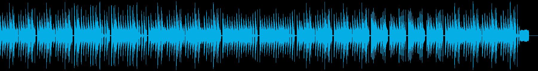 のんびり、のほほん、としたポップな曲の再生済みの波形