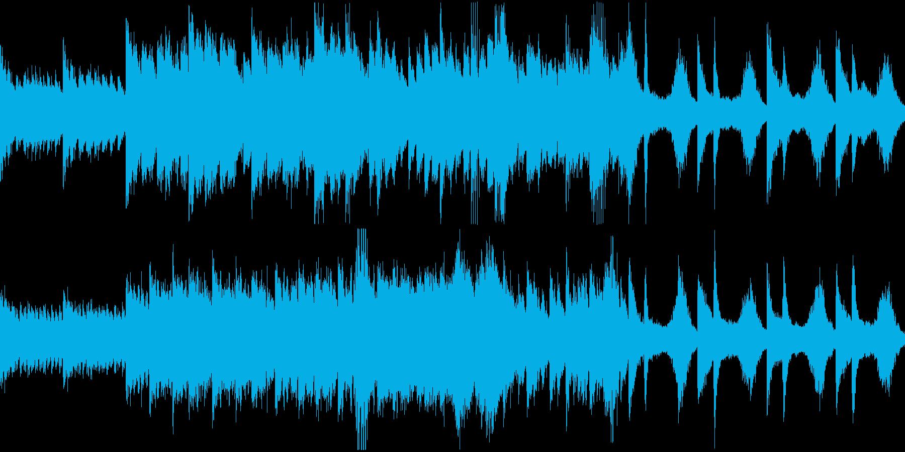 【ループ】不穏、重苦しい雰囲気に合うホラの再生済みの波形