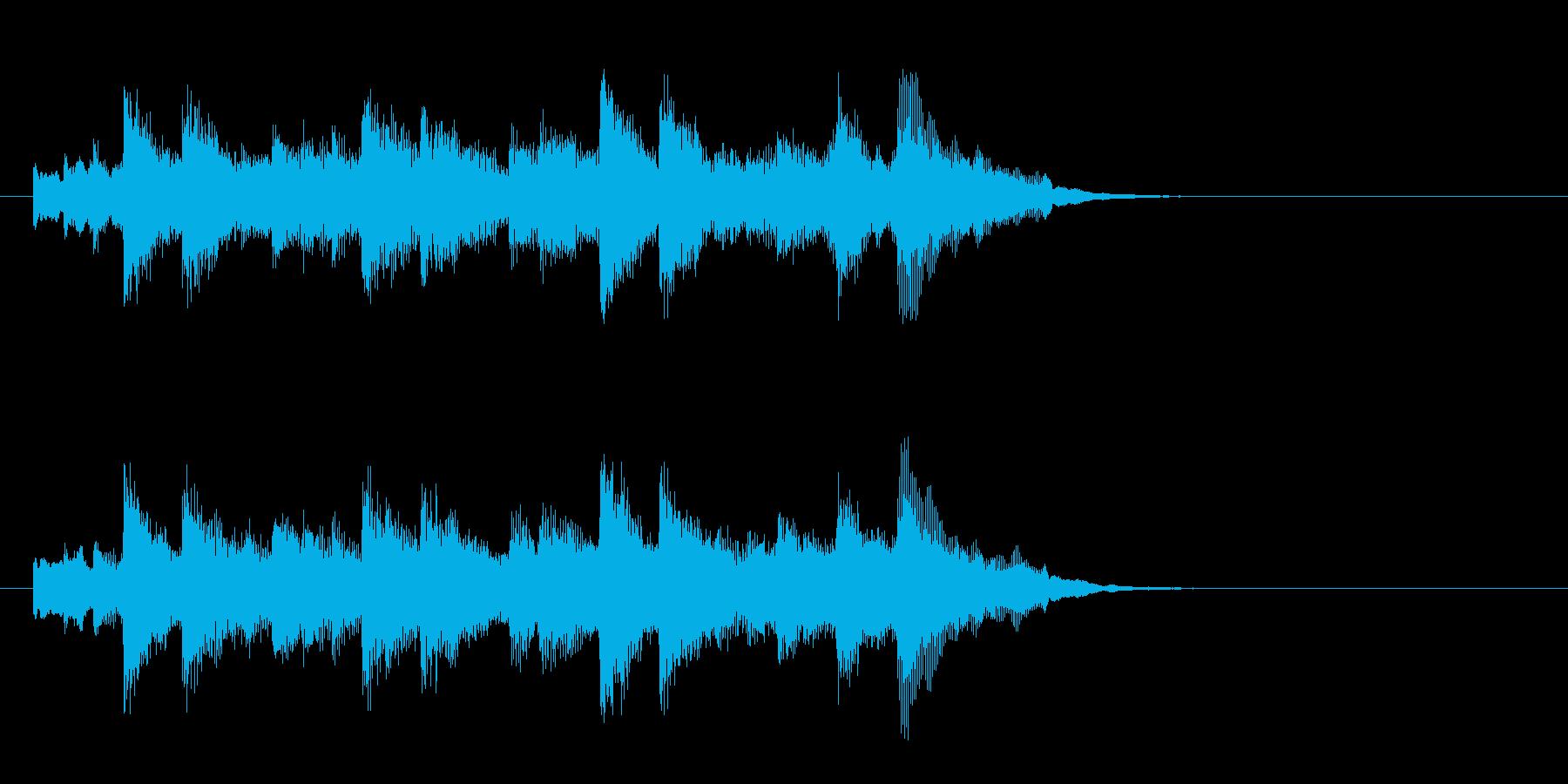 落着いたピアノ風バラード(イントロ)の再生済みの波形