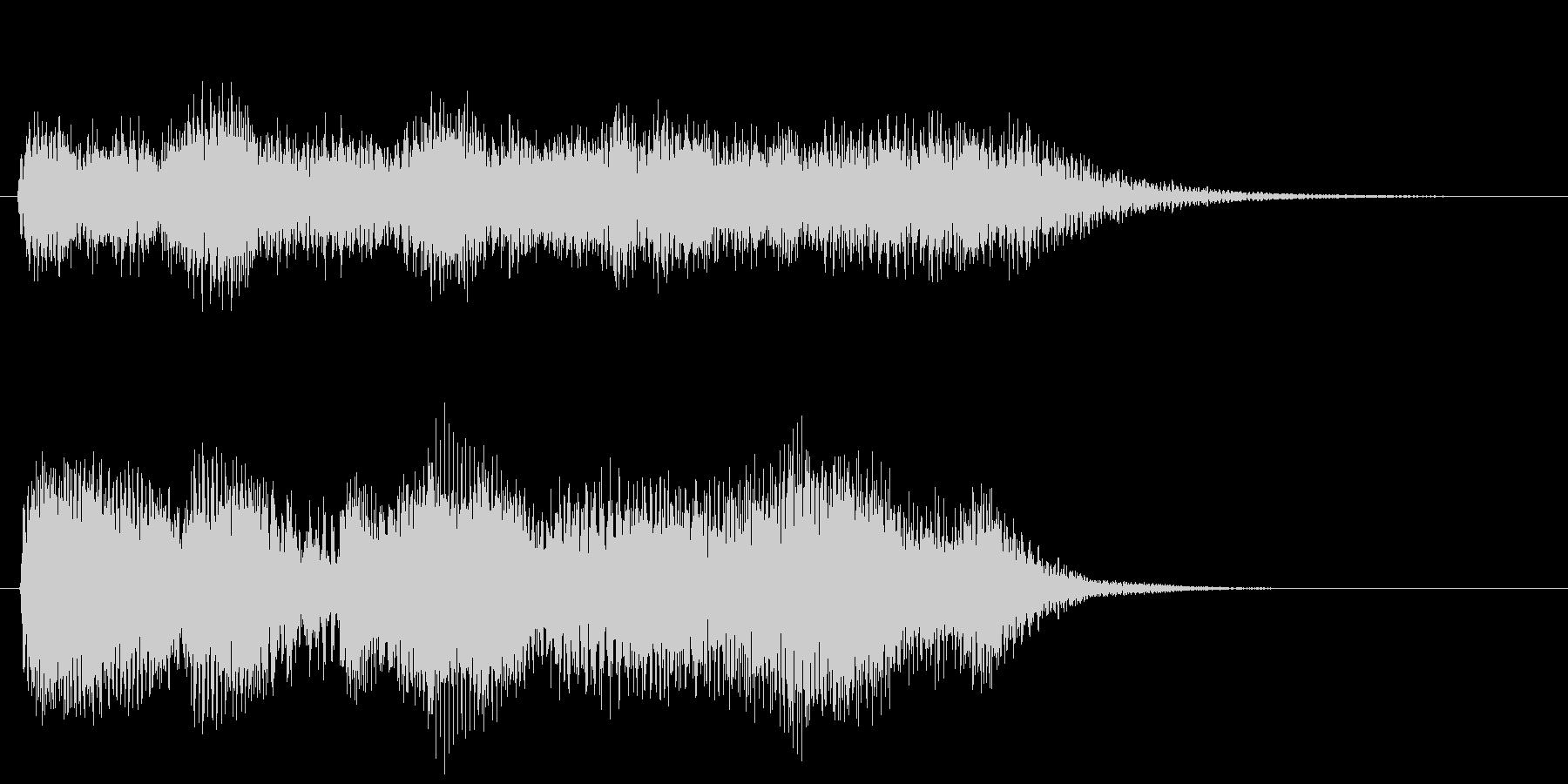 豪華な音色のシンセサイザーサウンドロゴ の未再生の波形