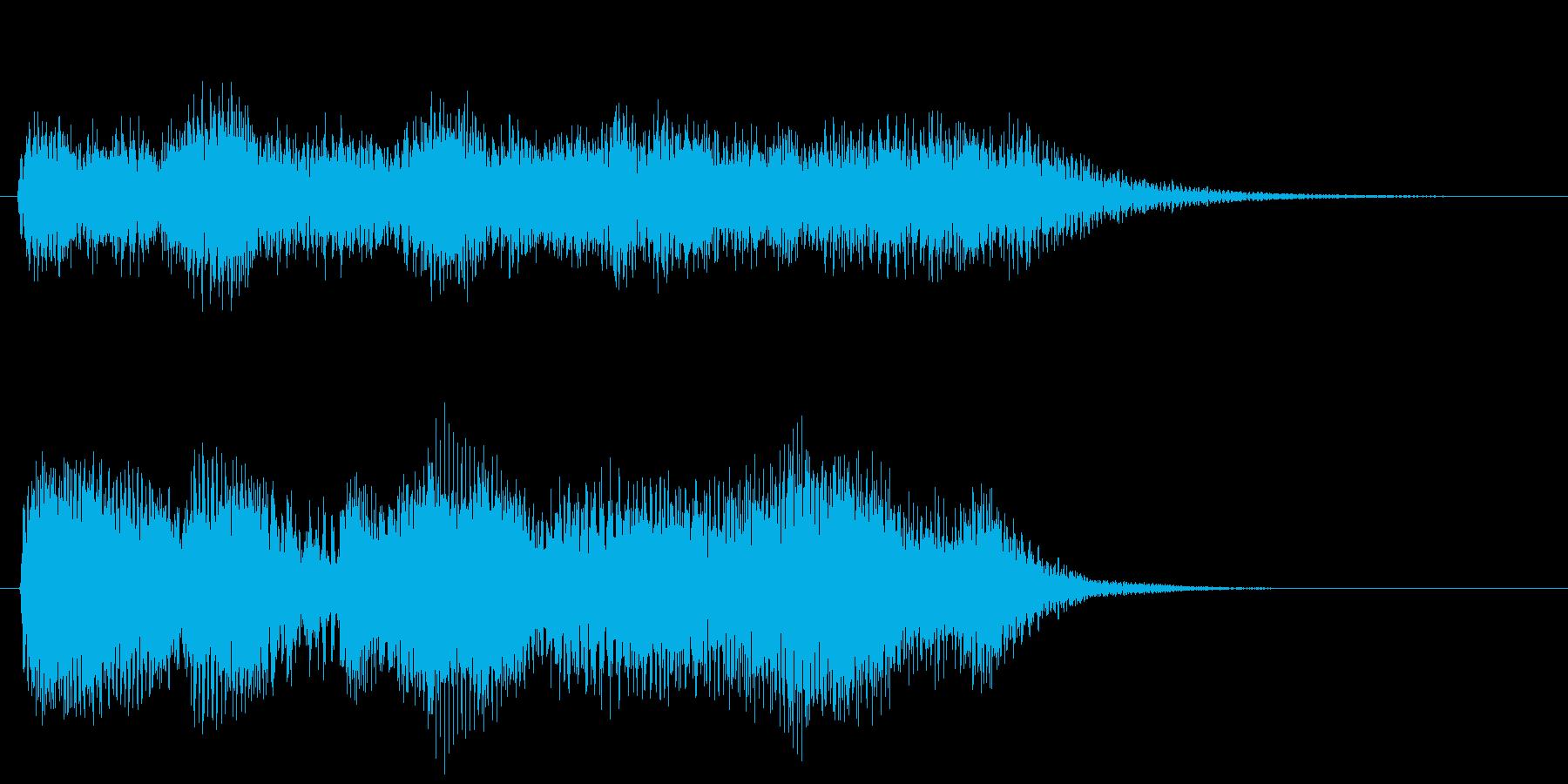 豪華な音色のシンセサイザーサウンドロゴ の再生済みの波形