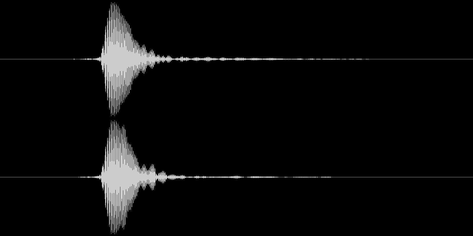 パッ (高い) テロップ音などの未再生の波形