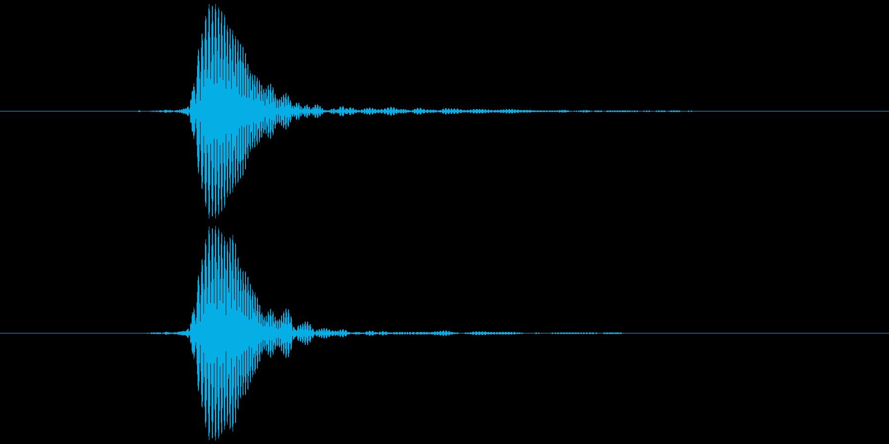 パッ (高い) テロップ音などの再生済みの波形
