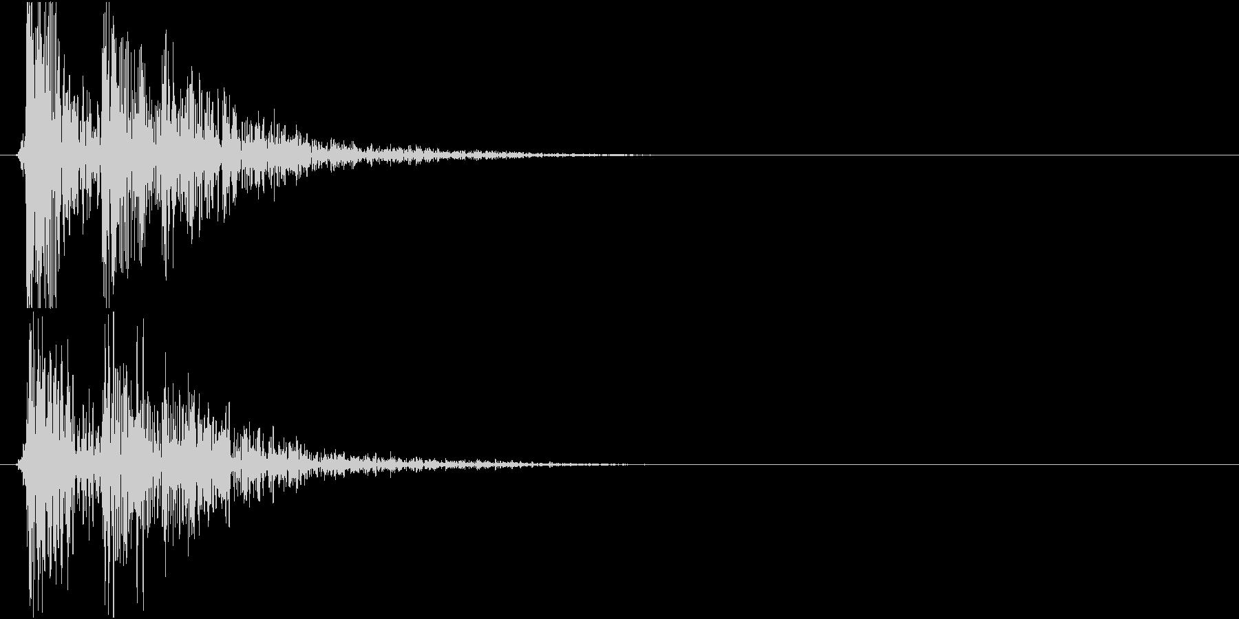 コンコロコロン・・・(物を落とした音)の未再生の波形