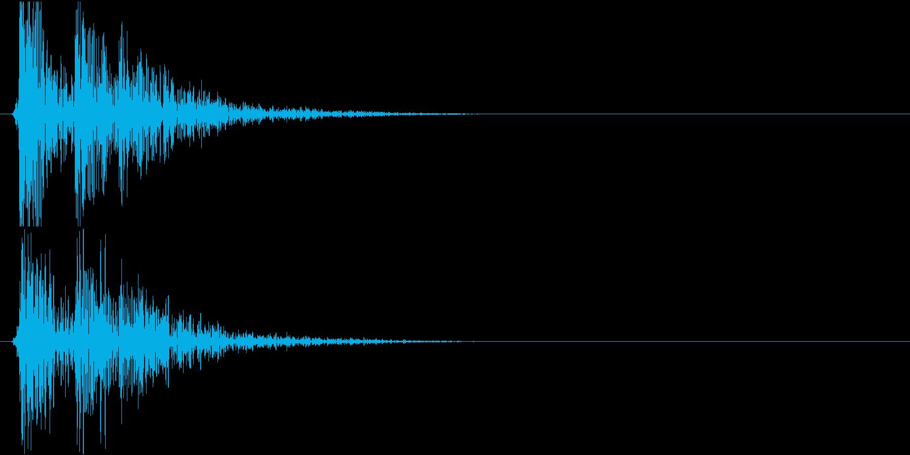 コンコロコロン・・・(物を落とした音)の再生済みの波形