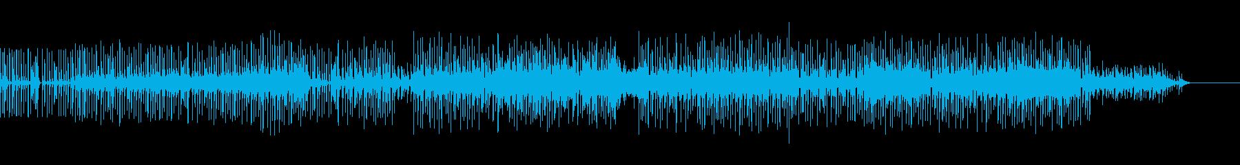 シンセ ゆったり踊れそうな曲の再生済みの波形
