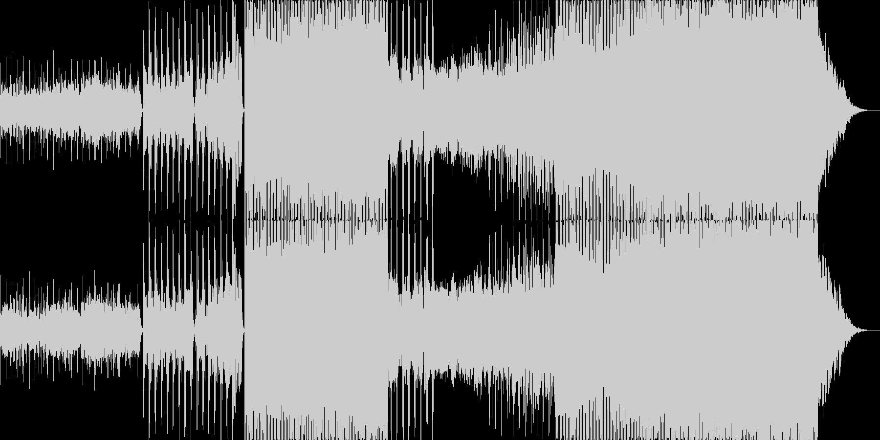 幻想的で疾走感のあるエレクトロポップの未再生の波形