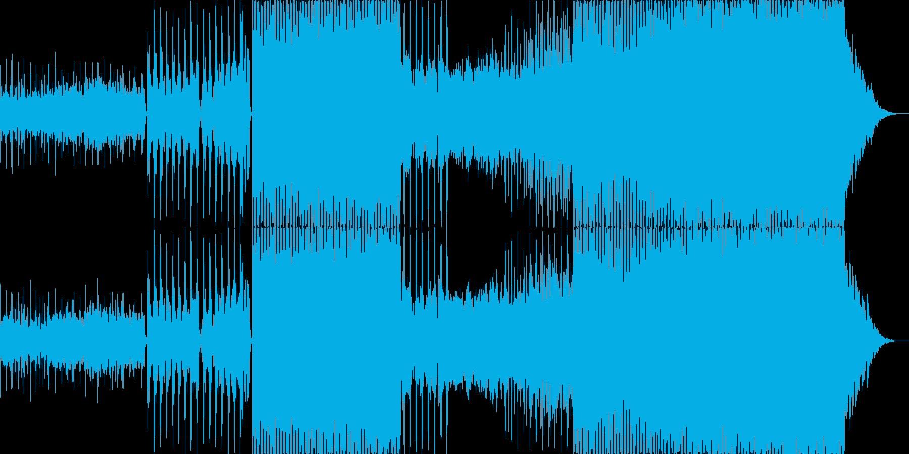 幻想的で疾走感のあるエレクトロポップの再生済みの波形