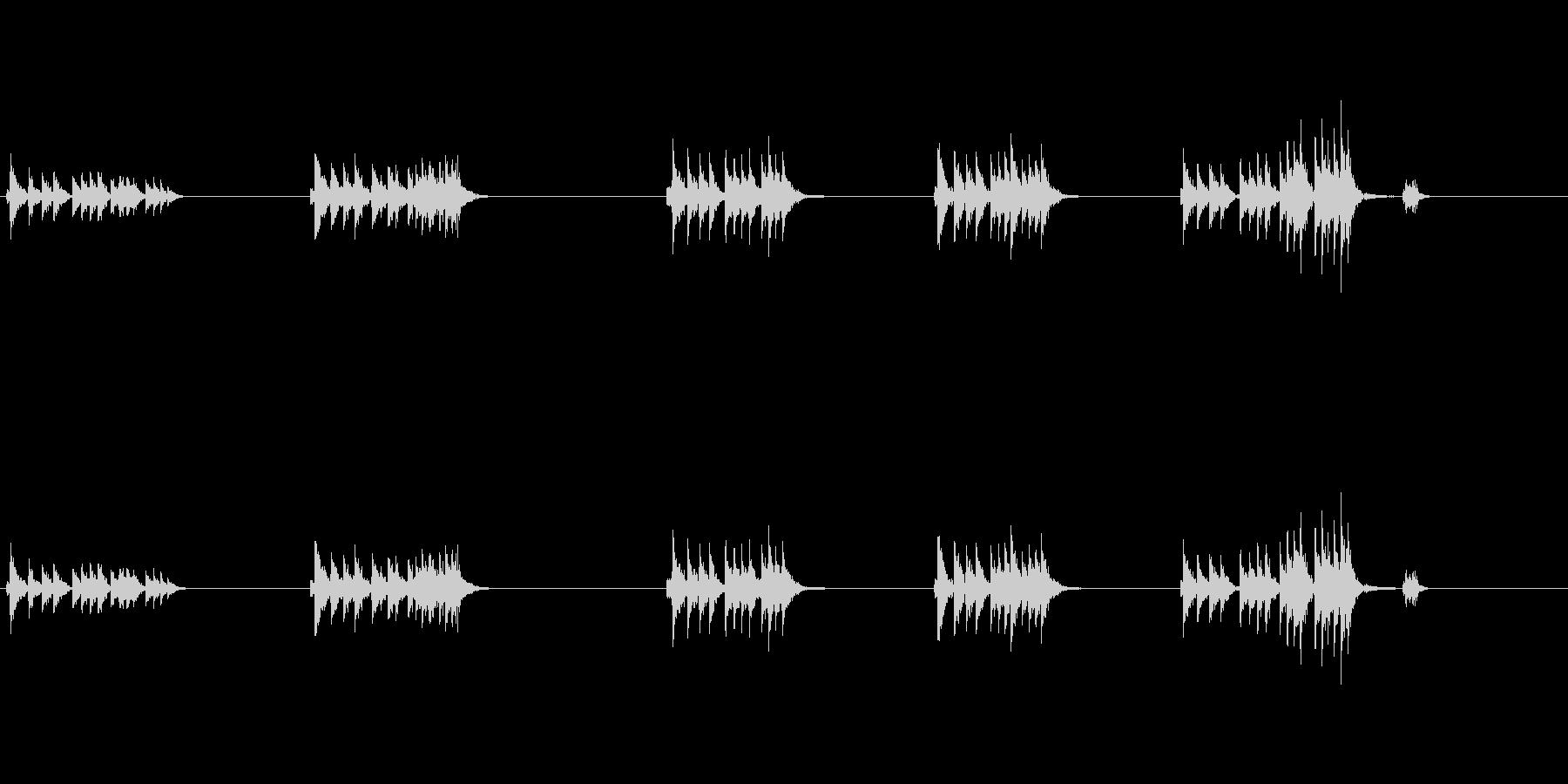 大太鼓5ウス風音歌舞伎情景描写和風和太鼓の未再生の波形