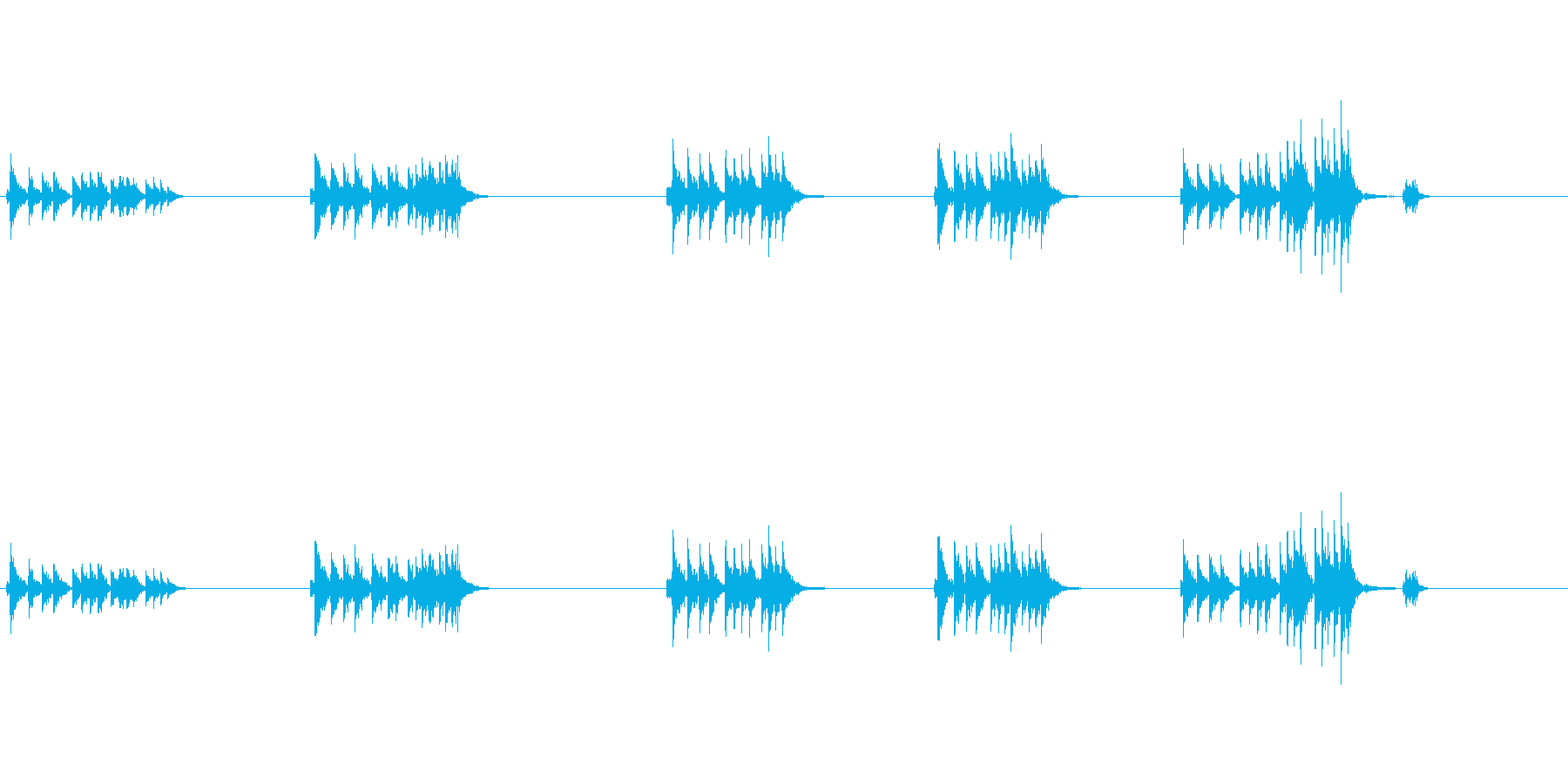大太鼓5ウス風音歌舞伎情景描写和風和太鼓の再生済みの波形