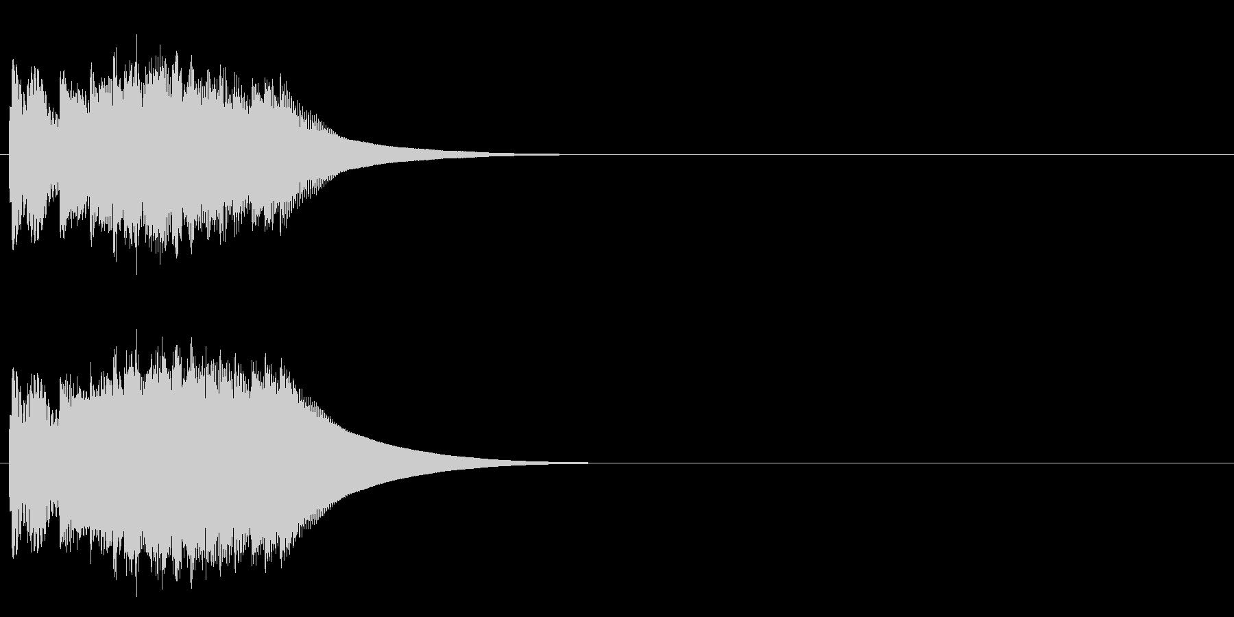 チャララリンの未再生の波形