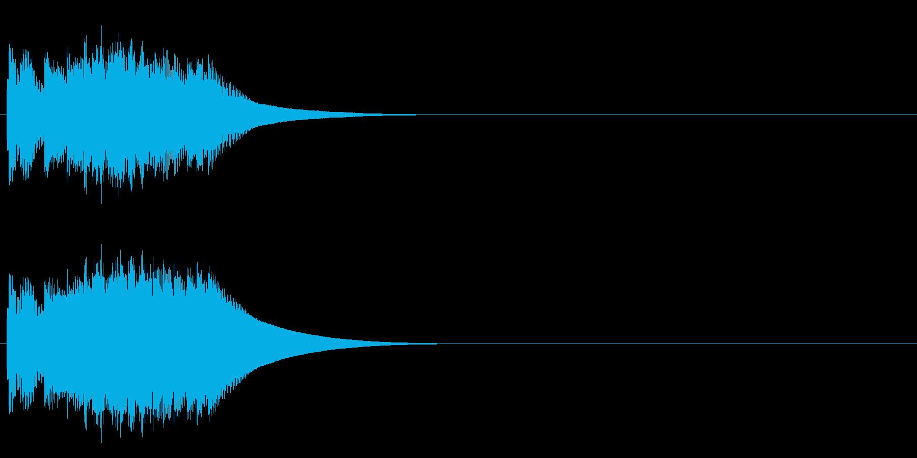 チャララリンの再生済みの波形