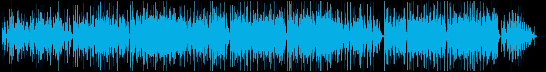 ソロピアノによるバラードBGMの再生済みの波形
