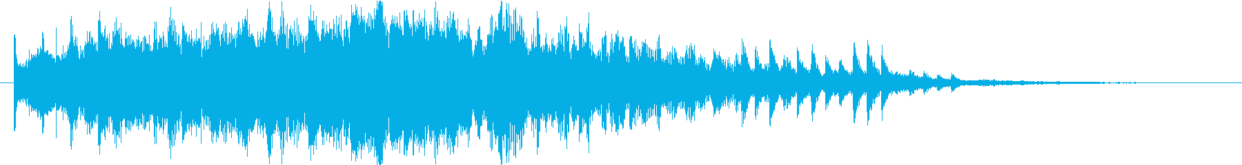 未来系サイバーサウンドロゴの再生済みの波形