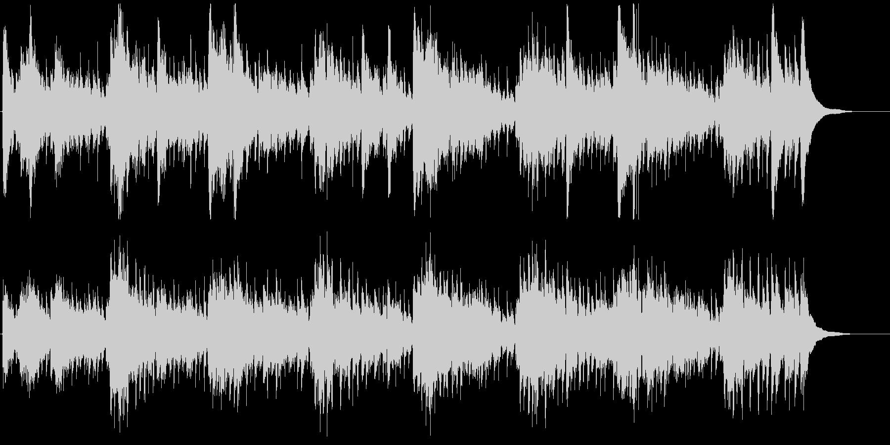 ゆったりと流れる癒しのアコギの未再生の波形