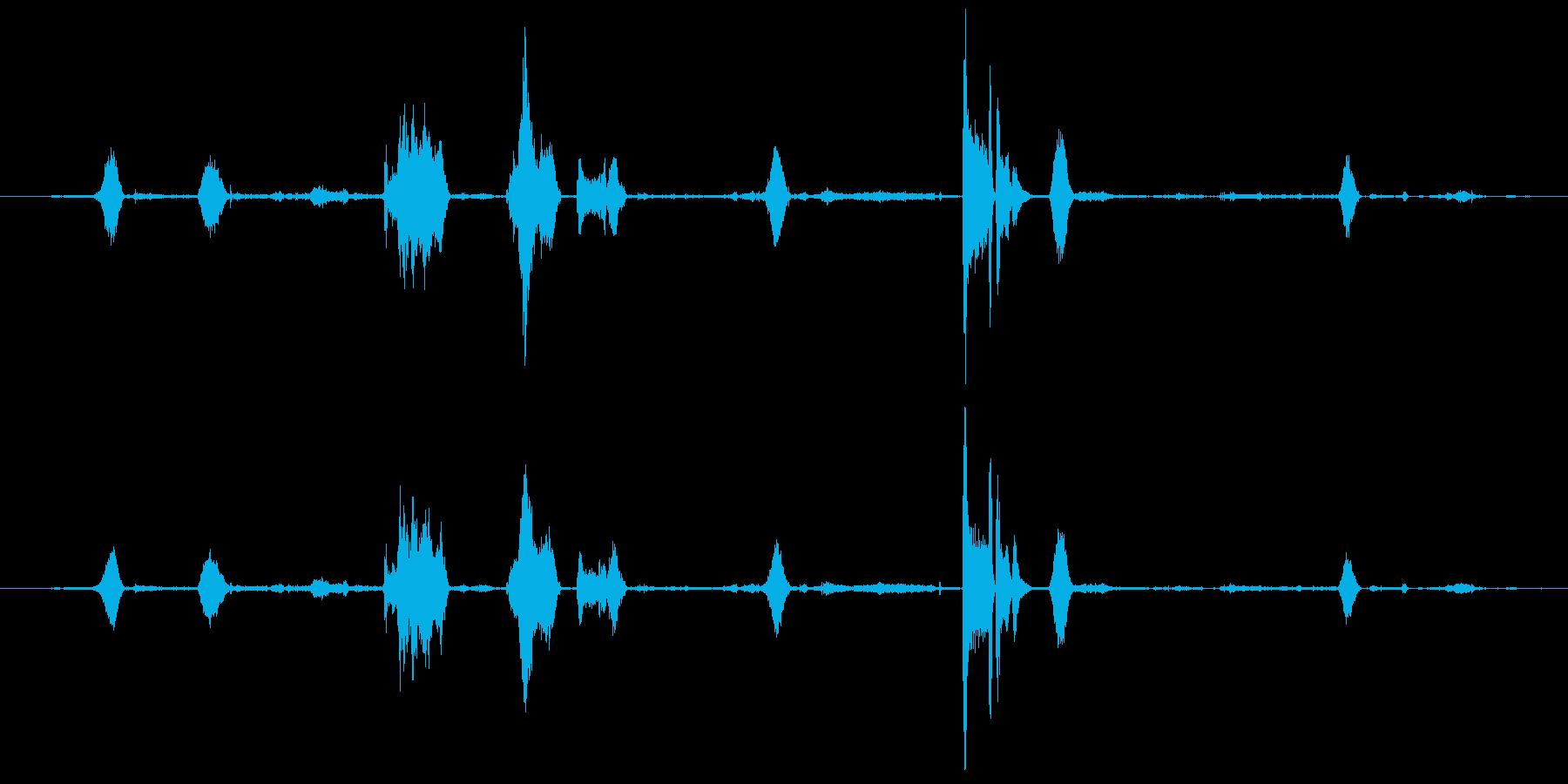 鼻をかむ、人間; DIGIFFEC...の再生済みの波形
