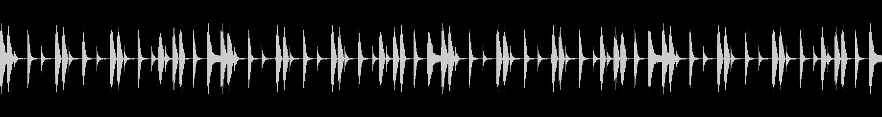 シンプルなドラムビートBGMループの未再生の波形