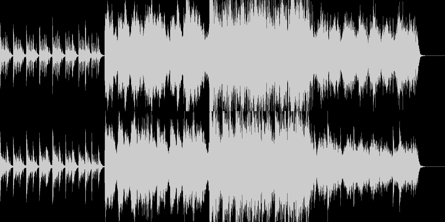 不気味でおどけたオーケストラの未再生の波形