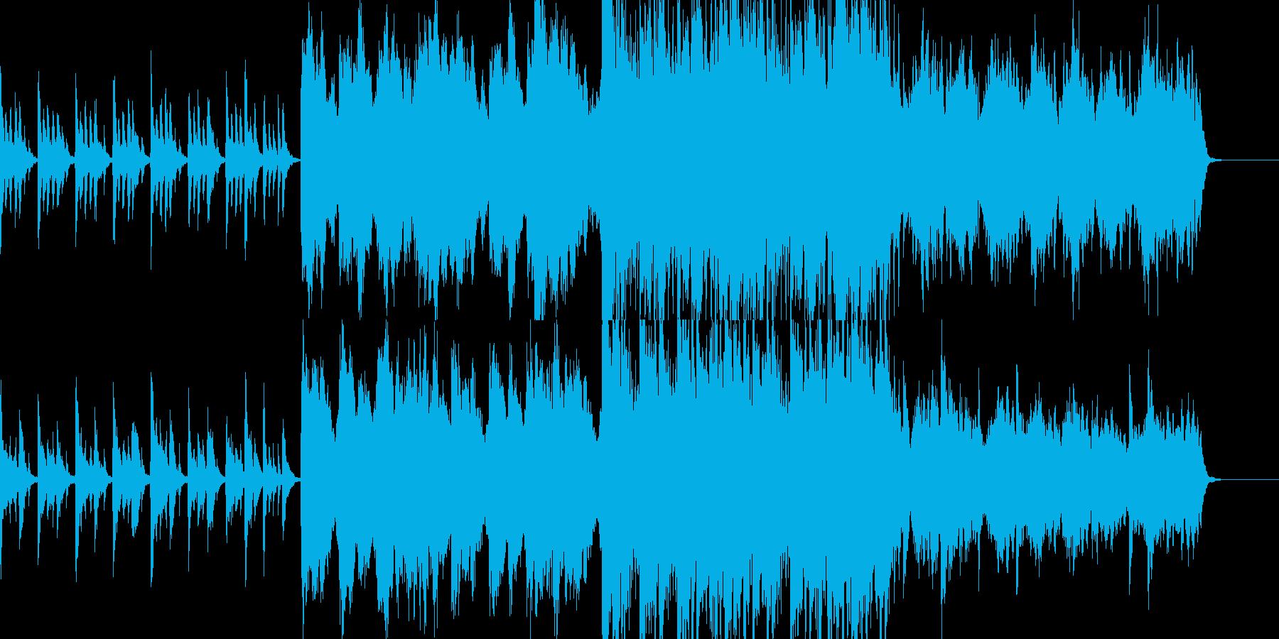 不気味でおどけたオーケストラの再生済みの波形