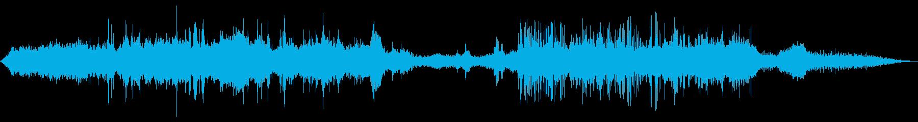 使用中の草トリマー(遠近法)の再生済みの波形