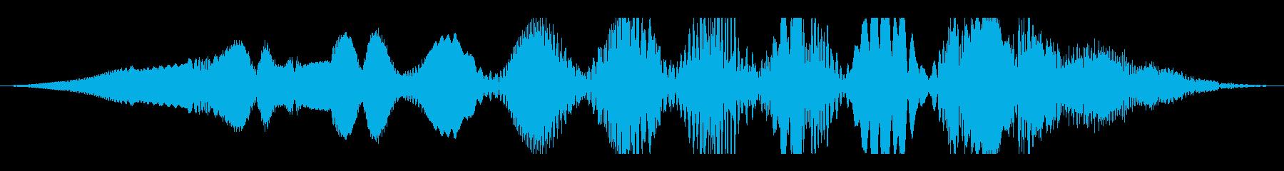 深宇宙の変動する電波干渉の再生済みの波形