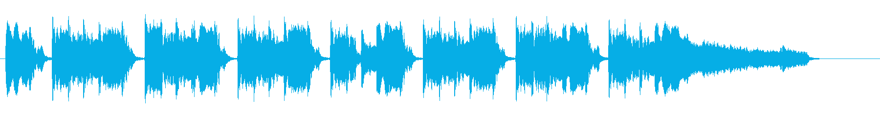 おまぬけぽいBGMの再生済みの波形
