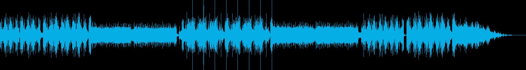 派手で高速 エキサイティングなトランス曲の再生済みの波形