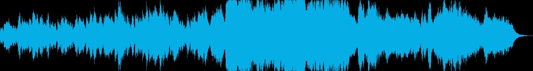 懐かしい感じのオーケストラ風BGMの再生済みの波形