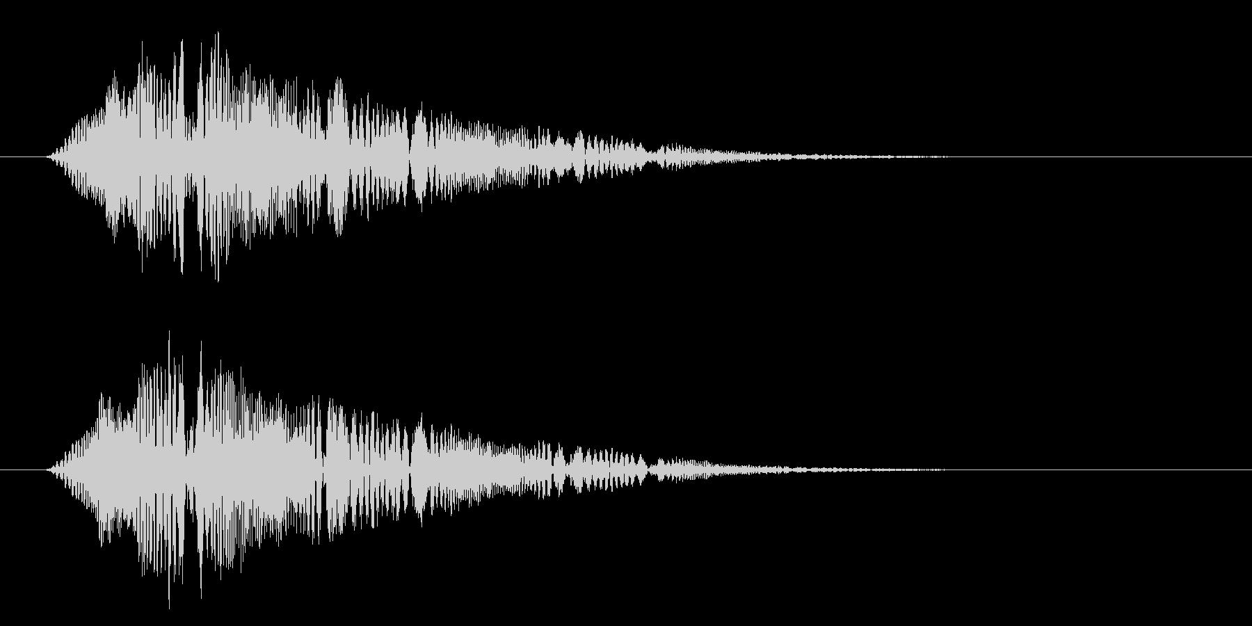 疑問や質問をテロップ表示する時に合うSEの未再生の波形