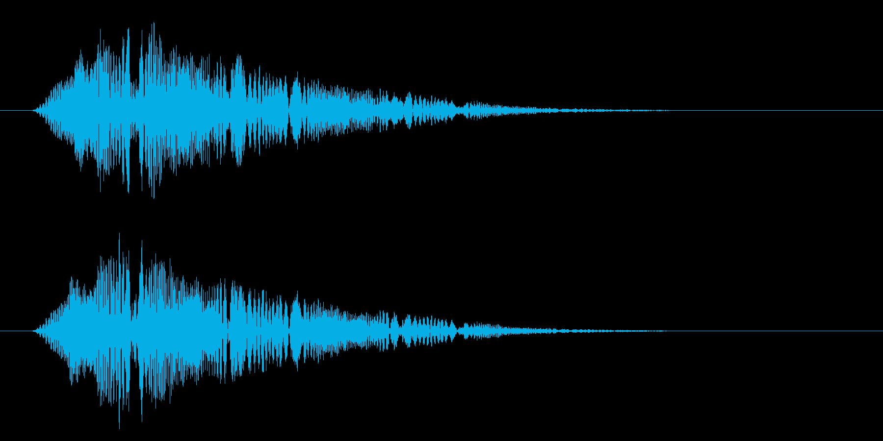疑問や質問をテロップ表示する時に合うSEの再生済みの波形