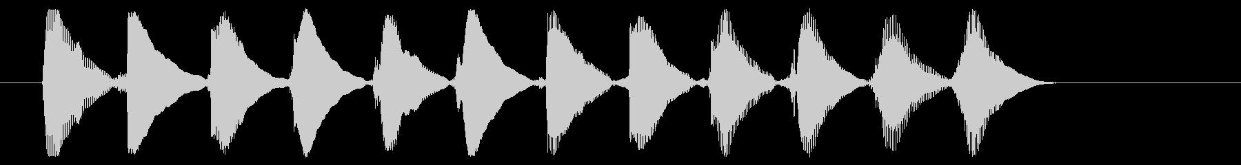 8ビット風システム音-16-5_dryの未再生の波形