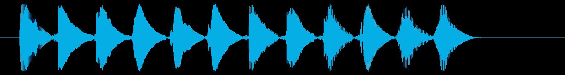 8ビット風システム音-16-5_dryの再生済みの波形