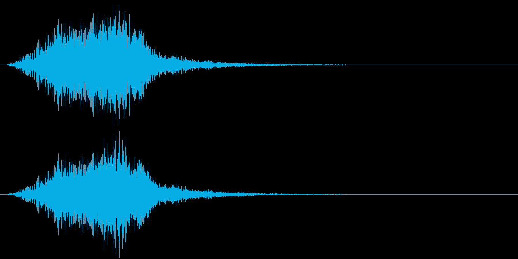 シャラララン!なキラキラ音1の再生済みの波形