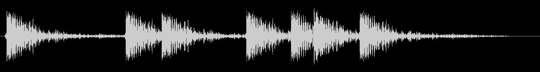 リズミカルに転がっているような効果音の未再生の波形