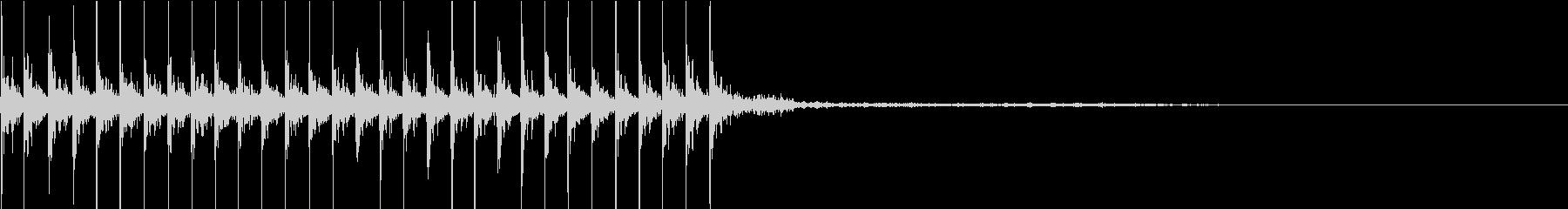 マシンガン02の未再生の波形
