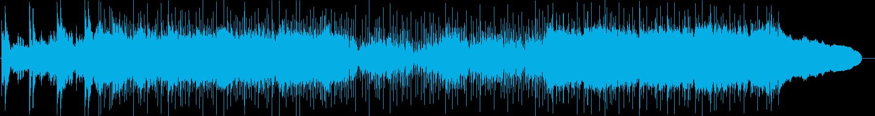 篠笛、琴、三味線、和太鼓のメタルサウンドの再生済みの波形