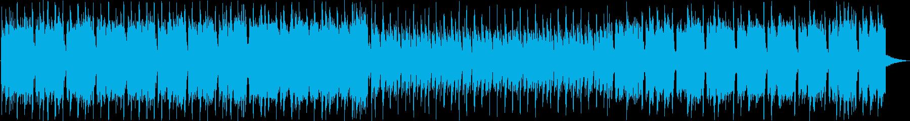 シンセサイザーを使ったロック調の曲の再生済みの波形