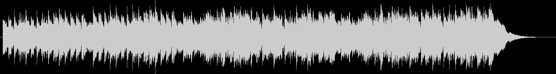 ほのぼのとしたヒーリングBGMの未再生の波形