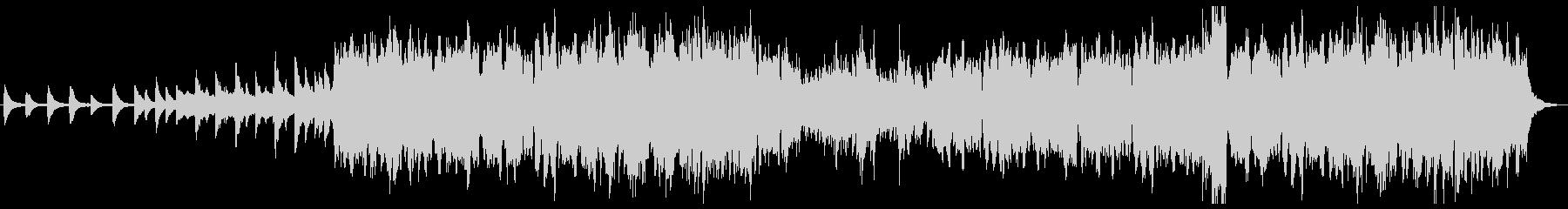 ケルト 幻想的なピアノとローホイッスルの未再生の波形