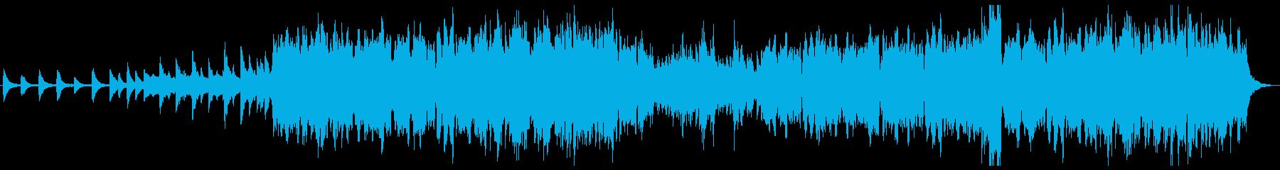 ケルト 幻想的なピアノとローホイッスルの再生済みの波形