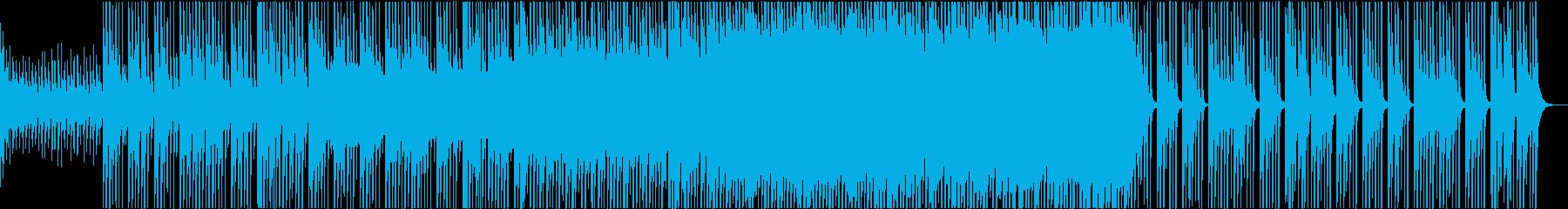 和楽器とストリングスとノイズのミックス曲の再生済みの波形