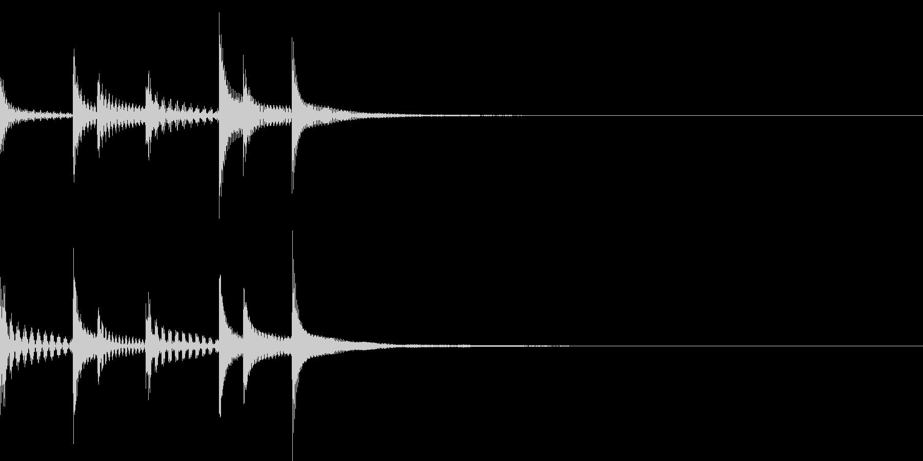 SF宇宙ぽいテクノな効果音/ピンチ/急ぐの未再生の波形