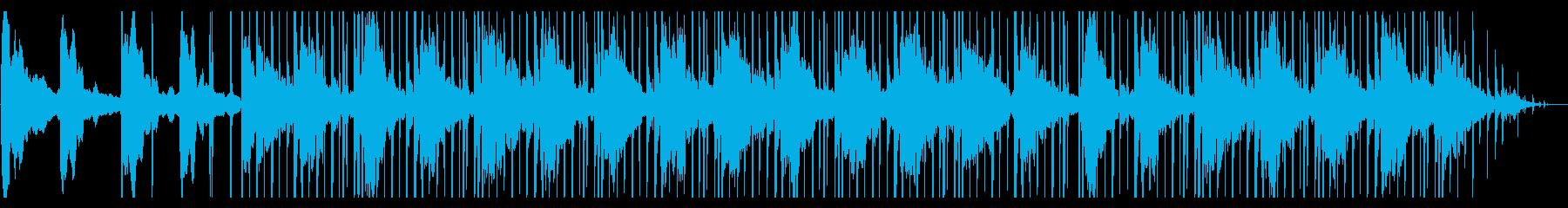 気だるい雰囲気のエレクトロニカの再生済みの波形