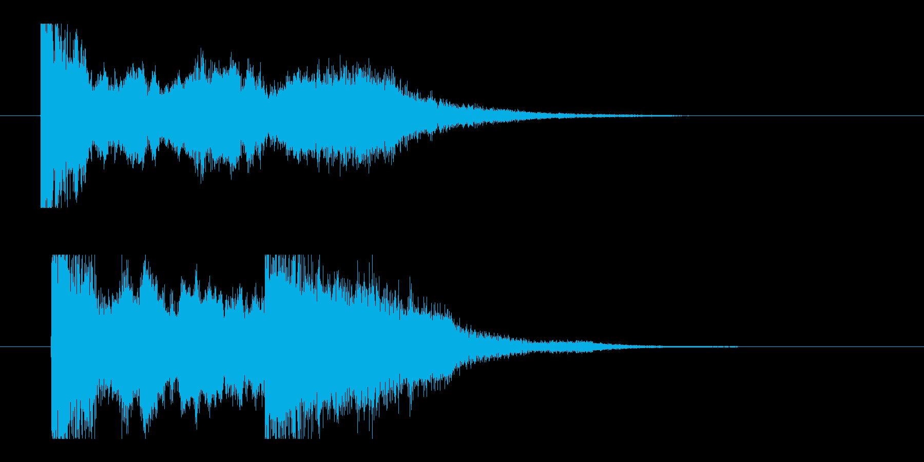 パチンコ、遊戯店(当たりの音)の再生済みの波形