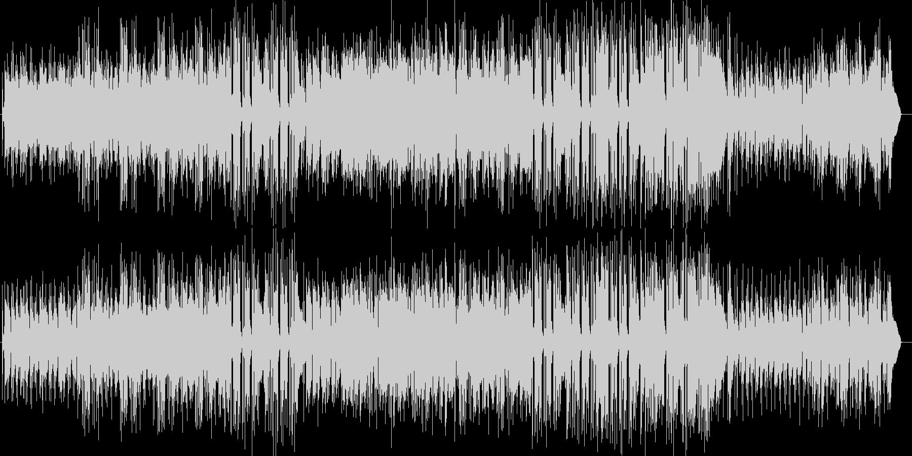 はじけるハッピーなギタートランペット曲の未再生の波形