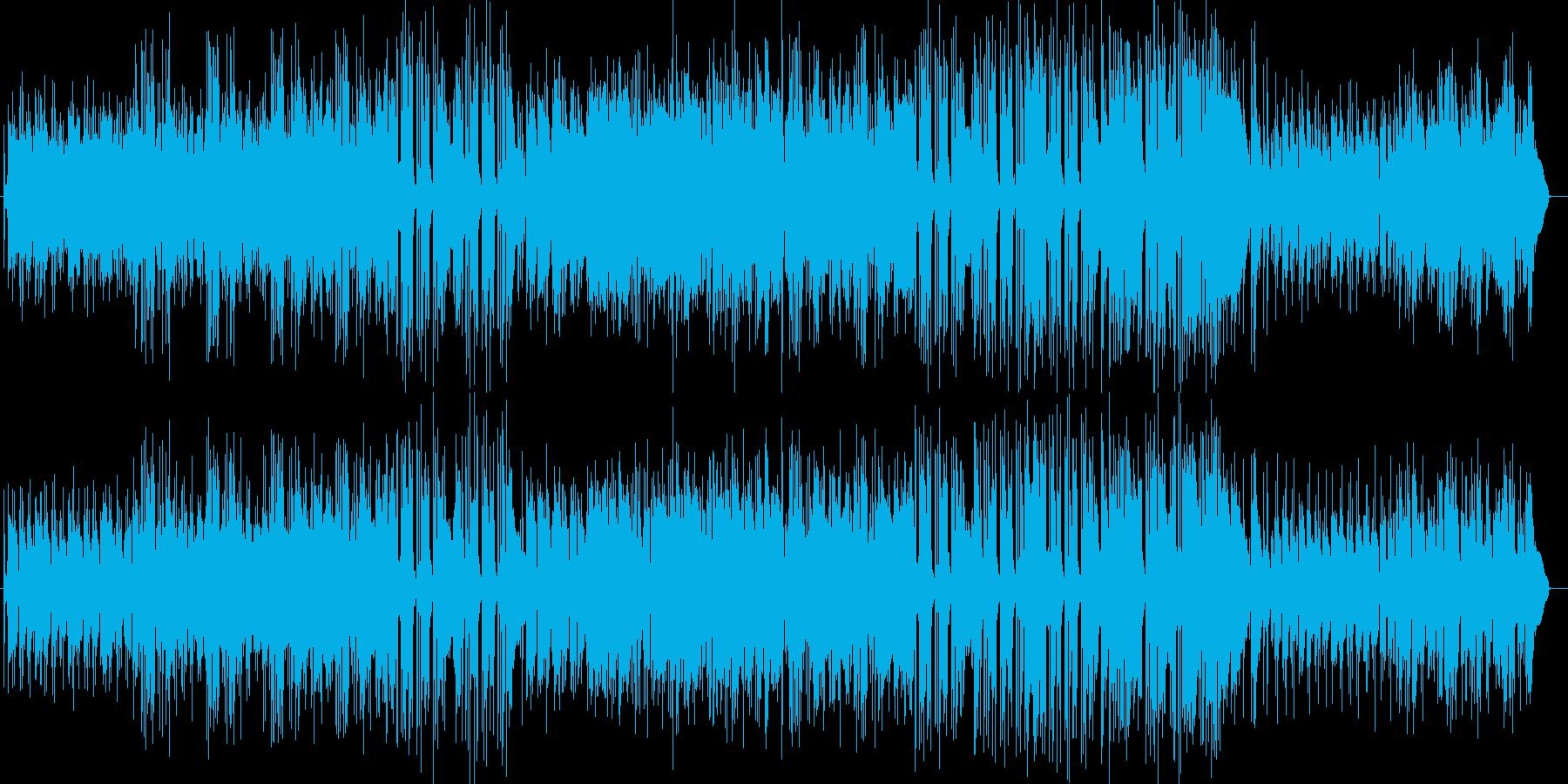 はじけるハッピーなギタートランペット曲の再生済みの波形