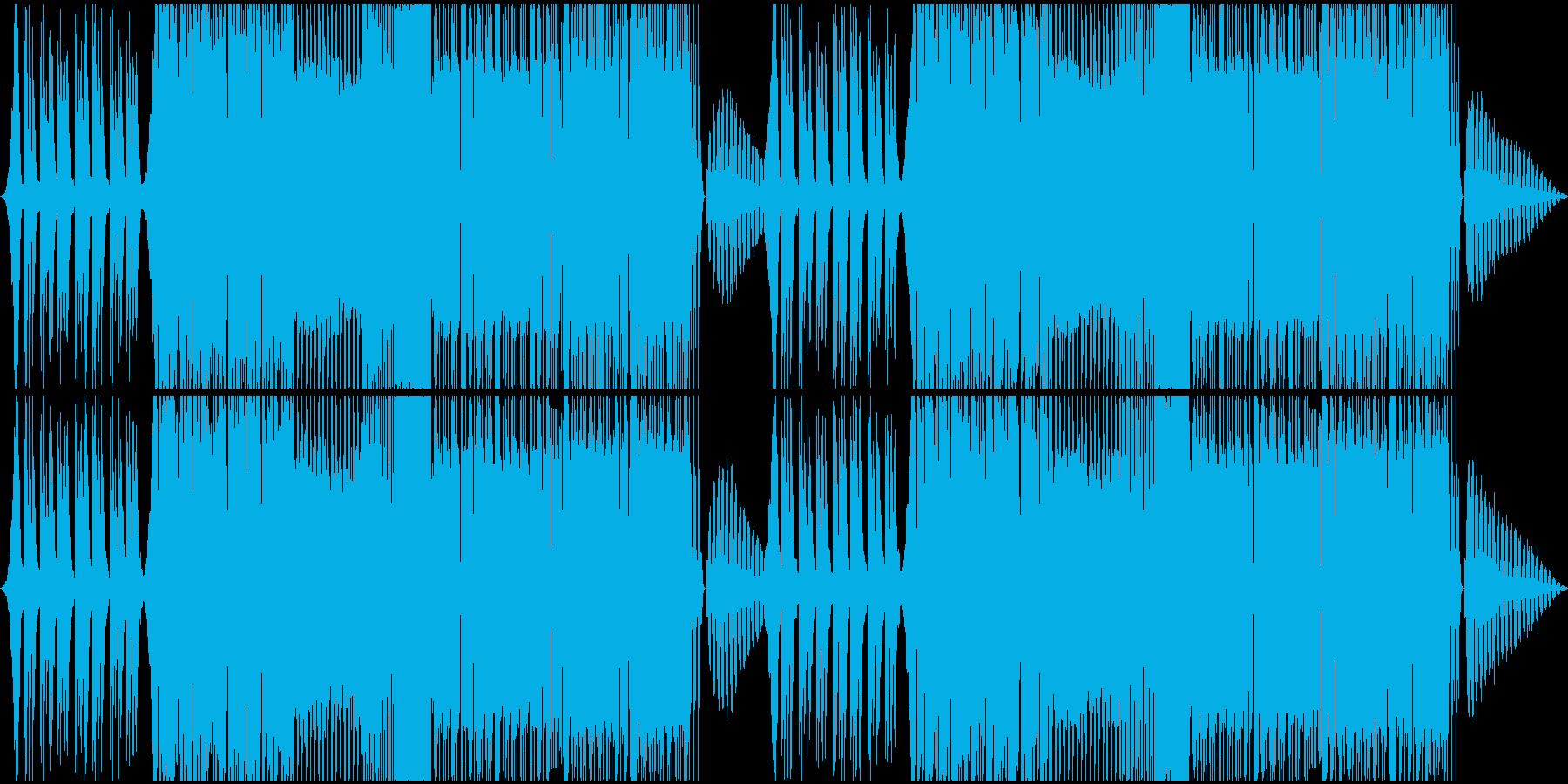 キャッチーでパワフルなEDMの再生済みの波形