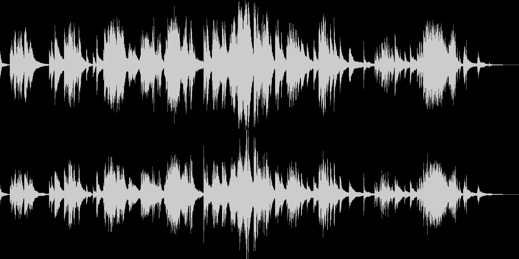 クロード・ドビュッシーの前奏曲 第8曲の未再生の波形