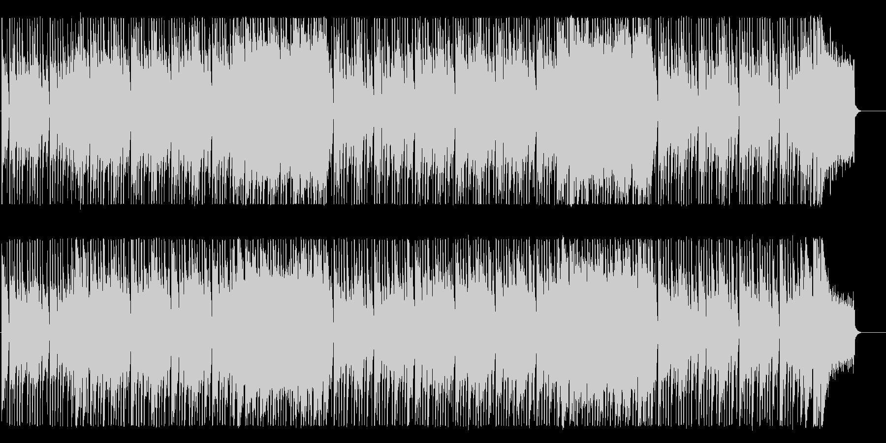 ポップでクールなBGMの未再生の波形